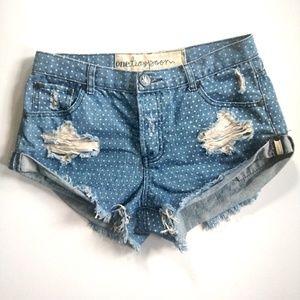 One Teaspoon Polkadot Bandit Cutoff Shorts - 26